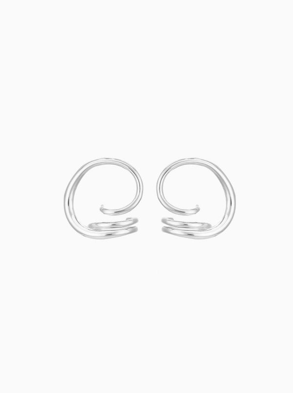 SILVER BOUCLES D'OREILLES ROUND TRIP EARING