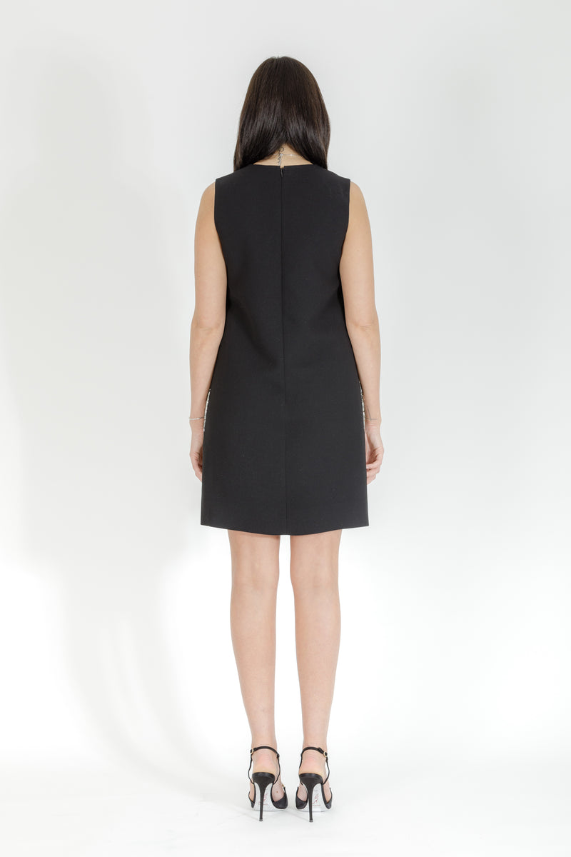 BLACK SIDE PANEL DRESS