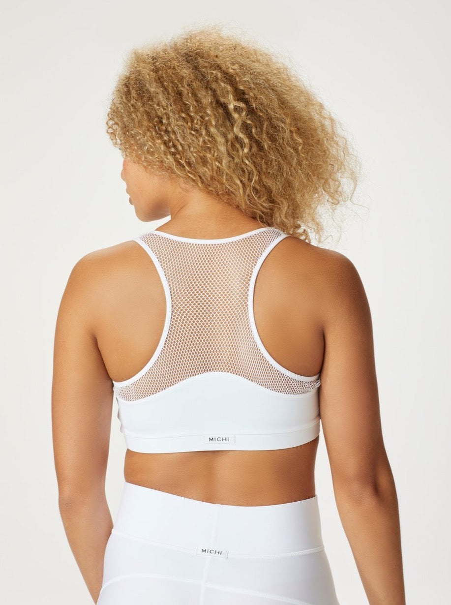 WHITE ANTIGRAVITY BRA