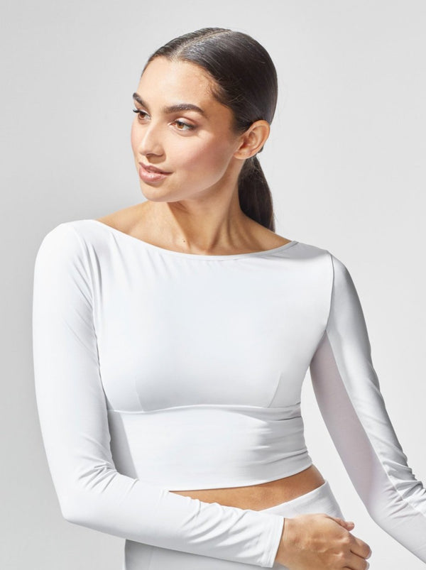 WHITE RALLY CROP TOP