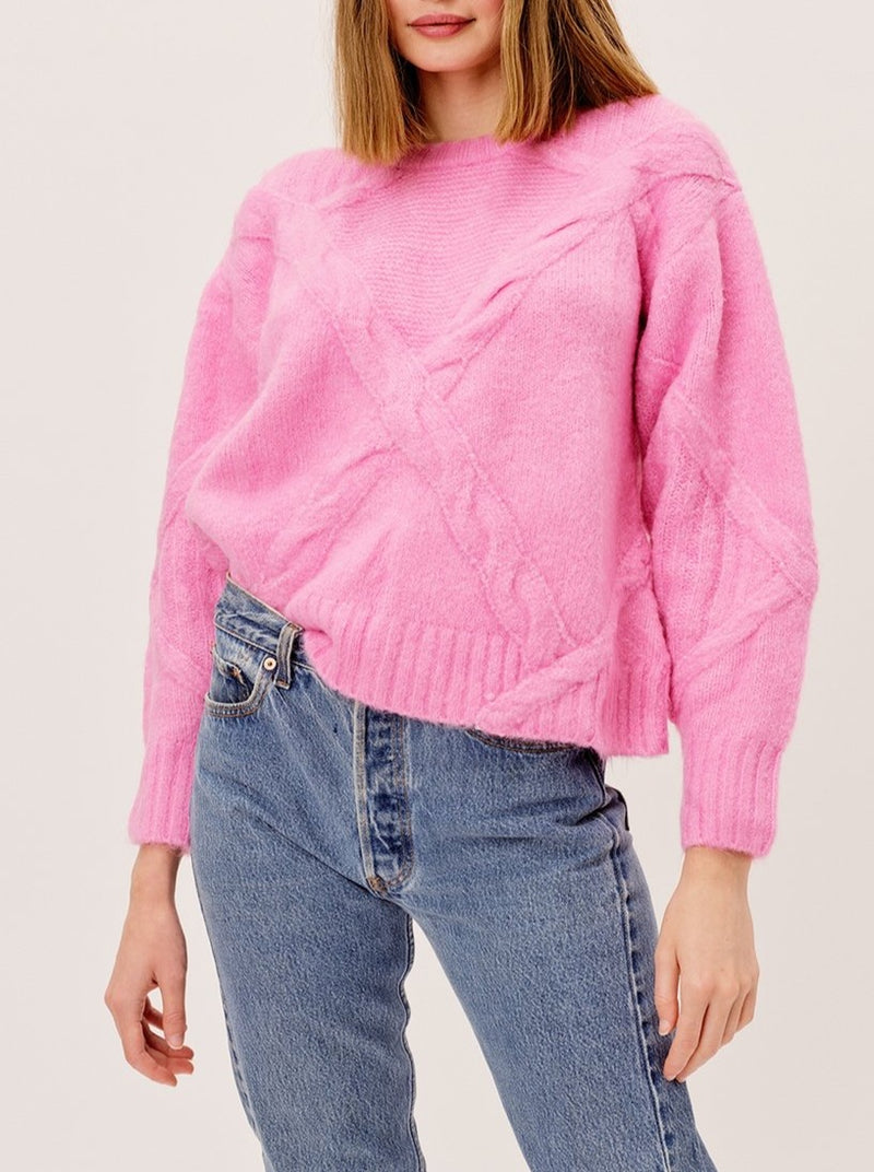 PINK CARLY SWEATER