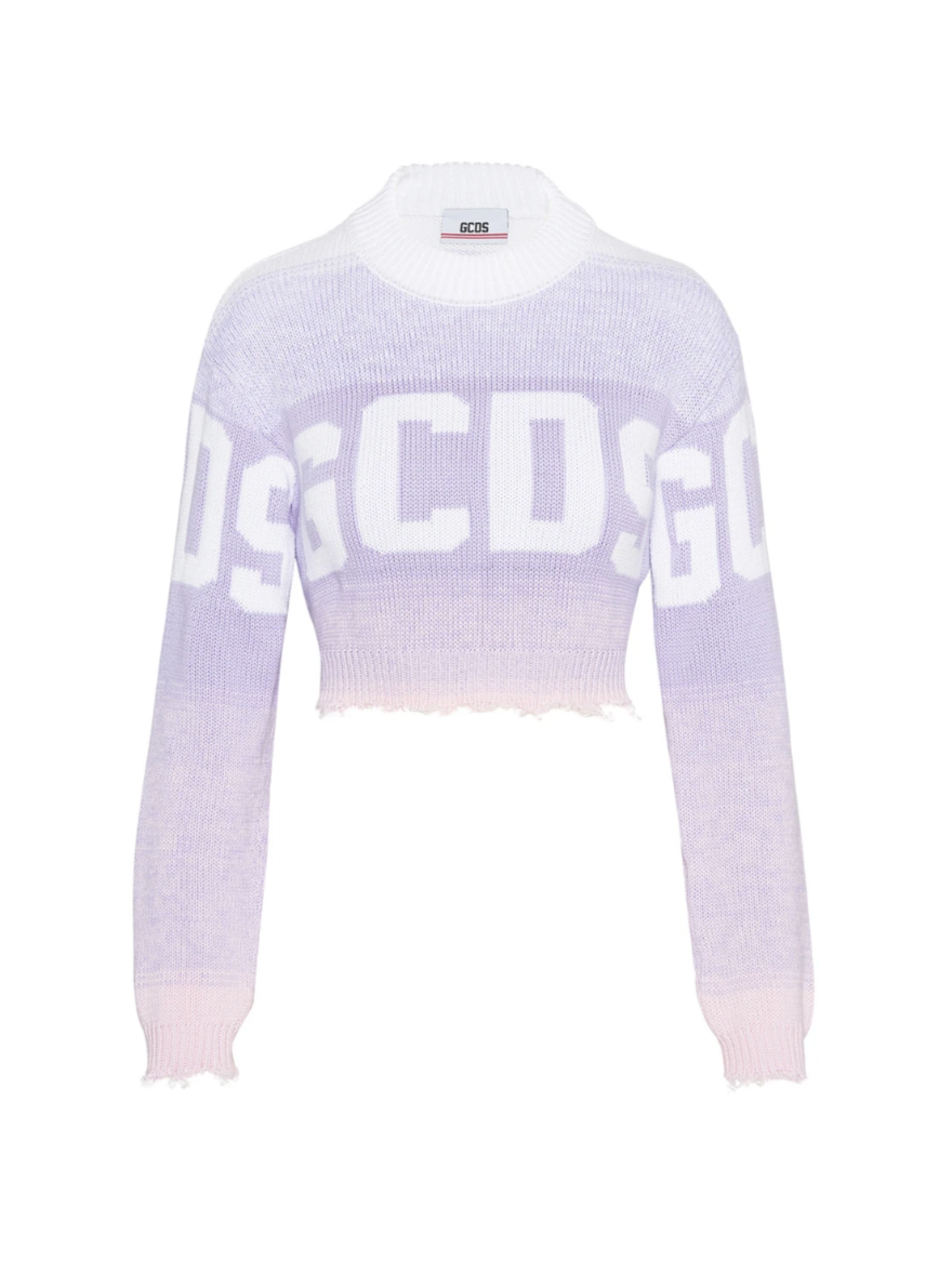 LILAC LOGO DEGRADE' SWEATER