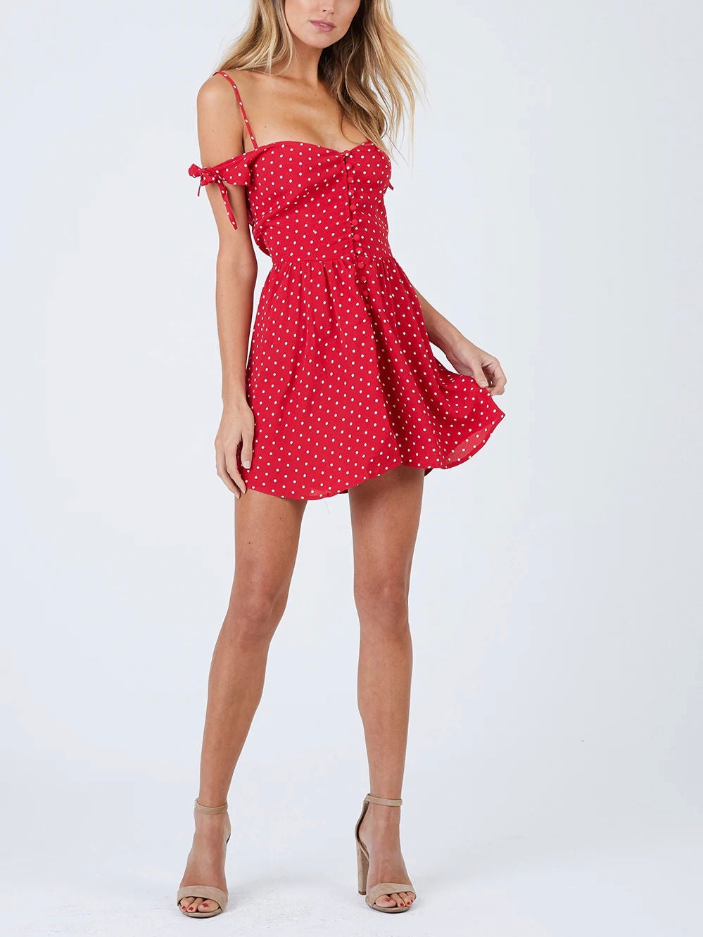 CHERRY DOTS BODHI MINI DRESS