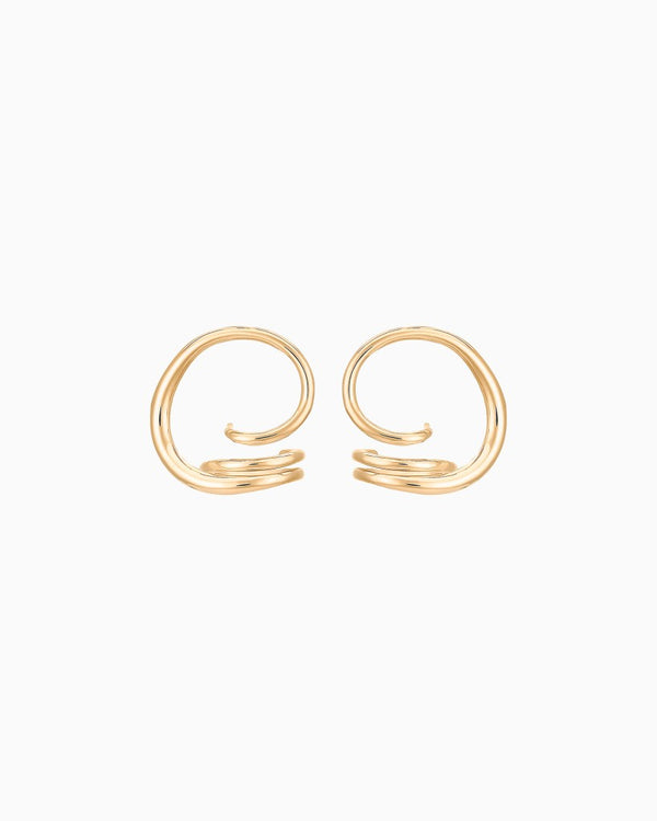 GOLD BOUCLES D'OREILLES ROUND TRIP EARING