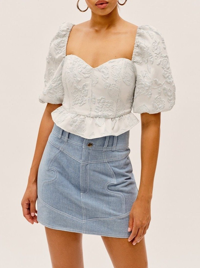 ICEBLUE LYDIA CROP TOP