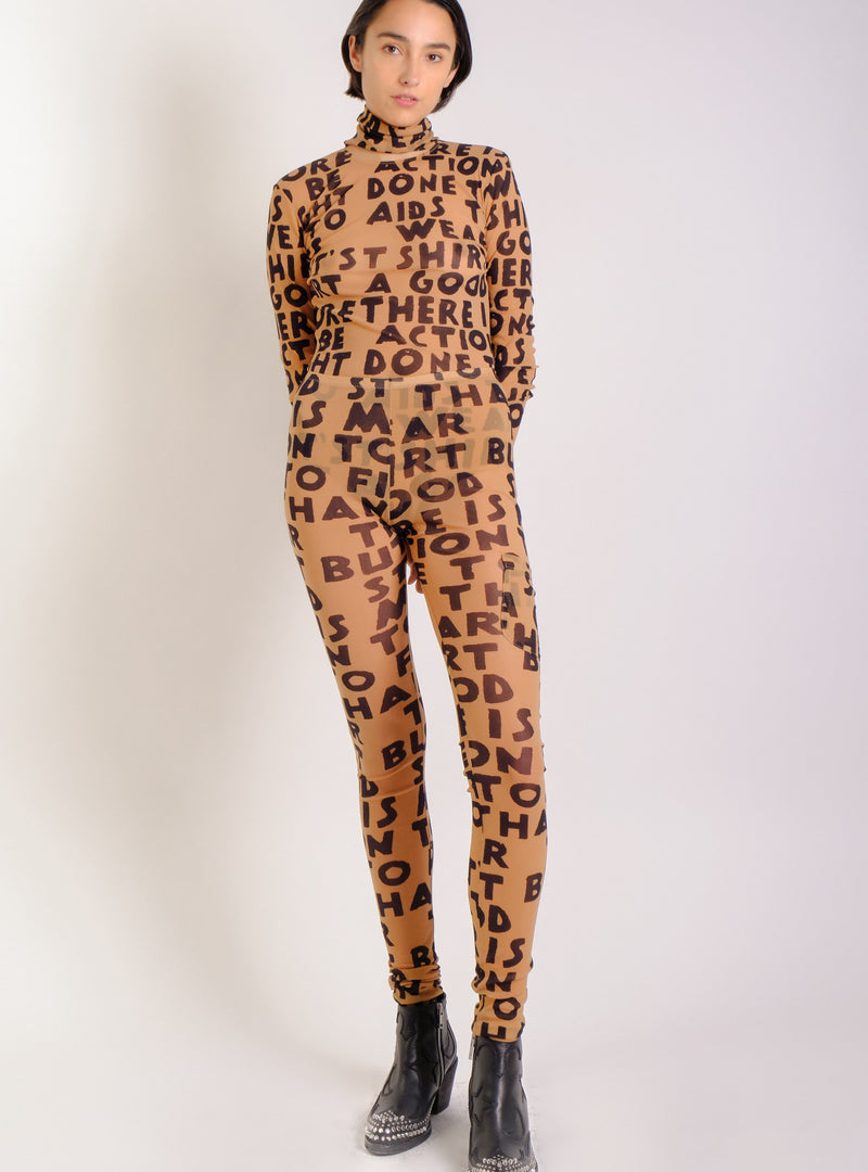 CAMEL TEXT-PRINT LEGGING