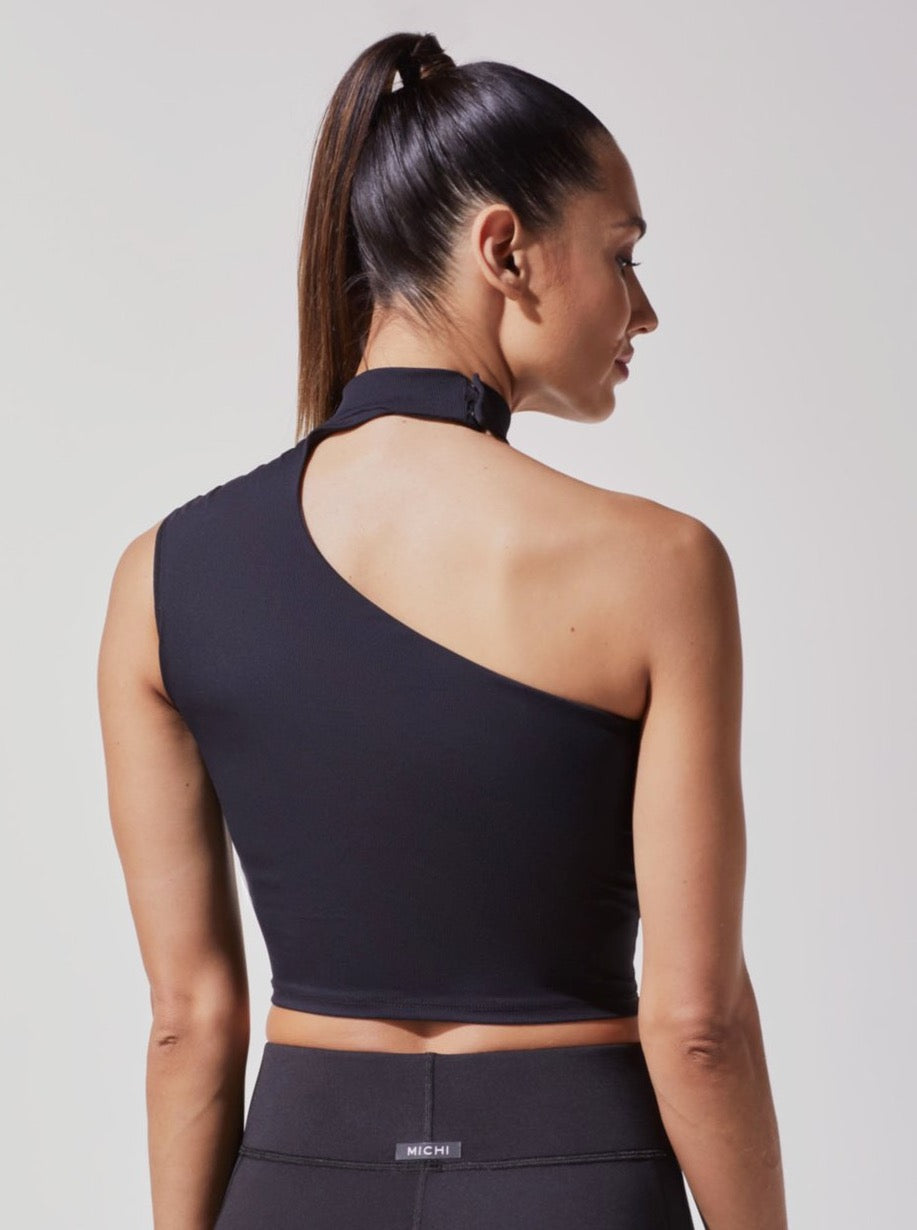 BLACK ECLIPSE CROP TOP