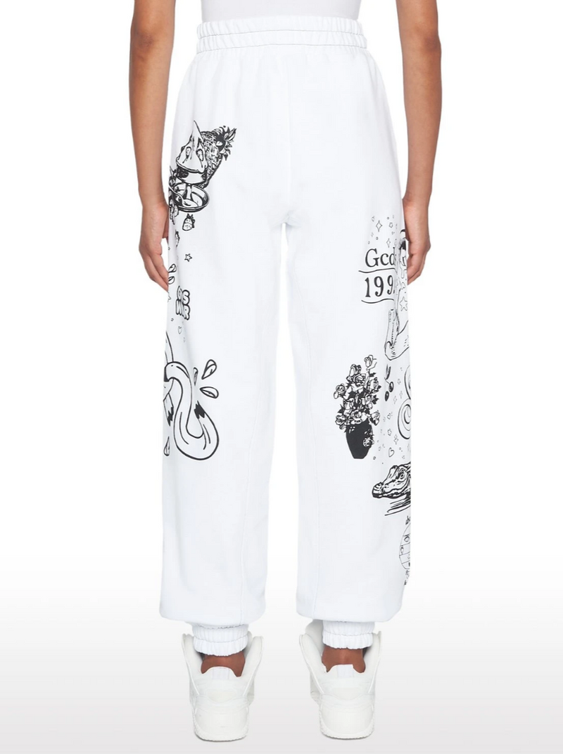 WHITE SUSTAINABLE COTTON ELEMENT PANTS