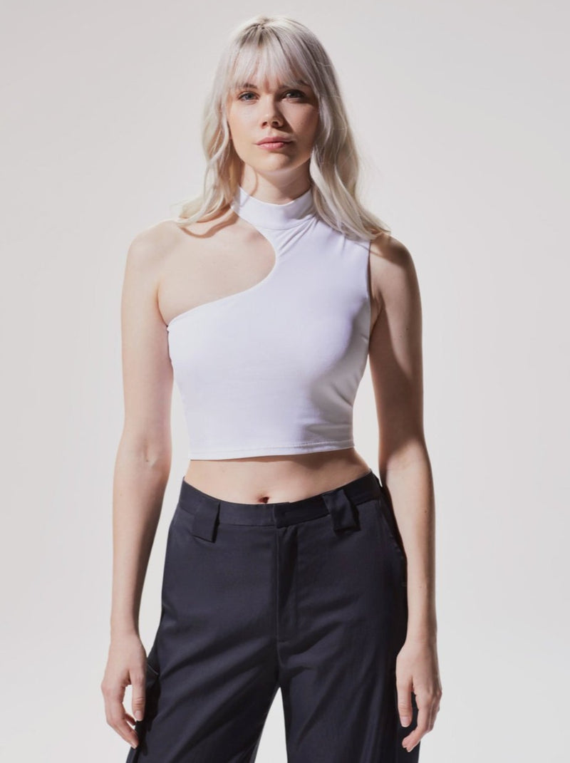 WHITE ECLIPSE CROP TOP