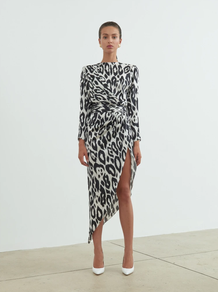 LEOPARD JADE DRESS