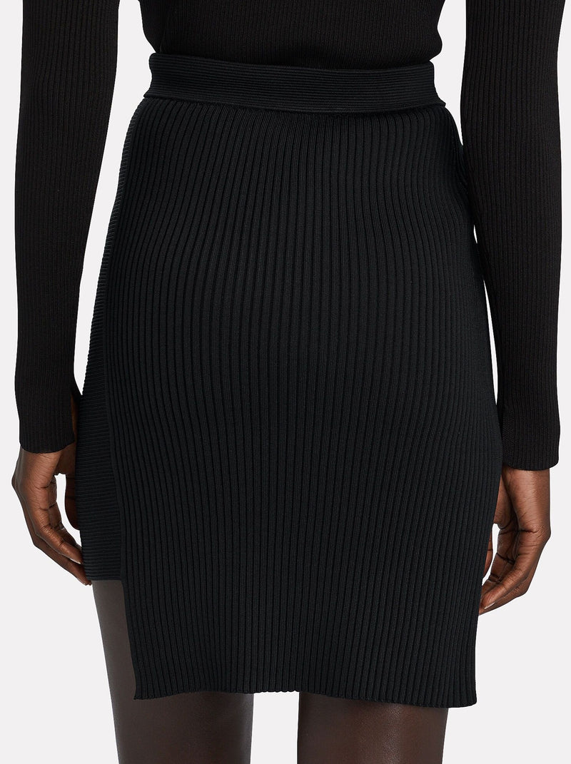 BLACK EMILY CUTOUT SKIRT