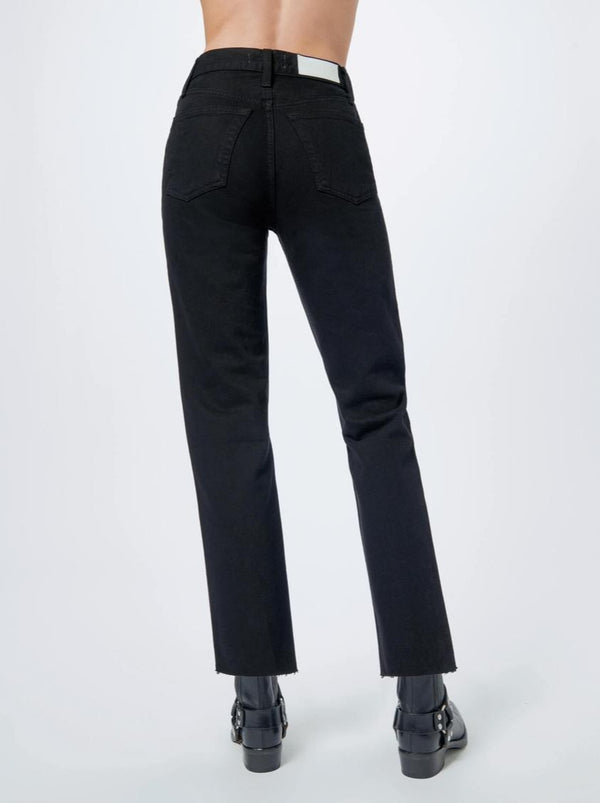 FADEBLK85 70S STOVE PIPE JEANS