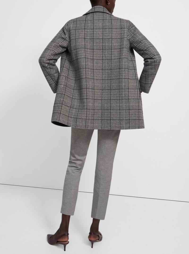 GREY MULTI DOUBLE-FACE CLAIRENE JACKET