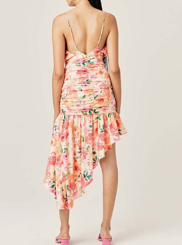 PEACH VERSILLA HIGH-LOW DRESS