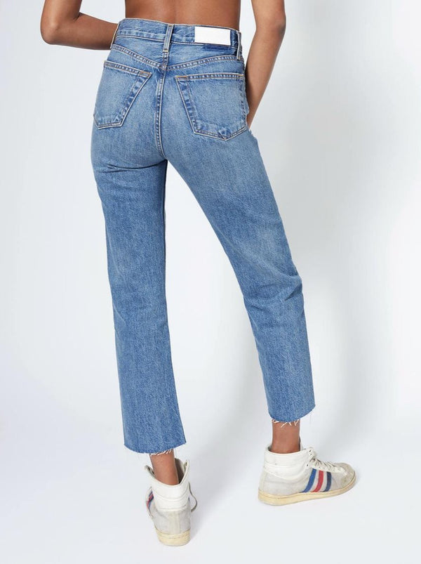 MED VAIN 70S STOVE PIPE JEANS