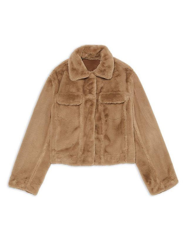 CAMEL TRUCKER JACKET