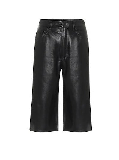 NAMPEYO VEGAN LEATHER BERMUDA SHORTS