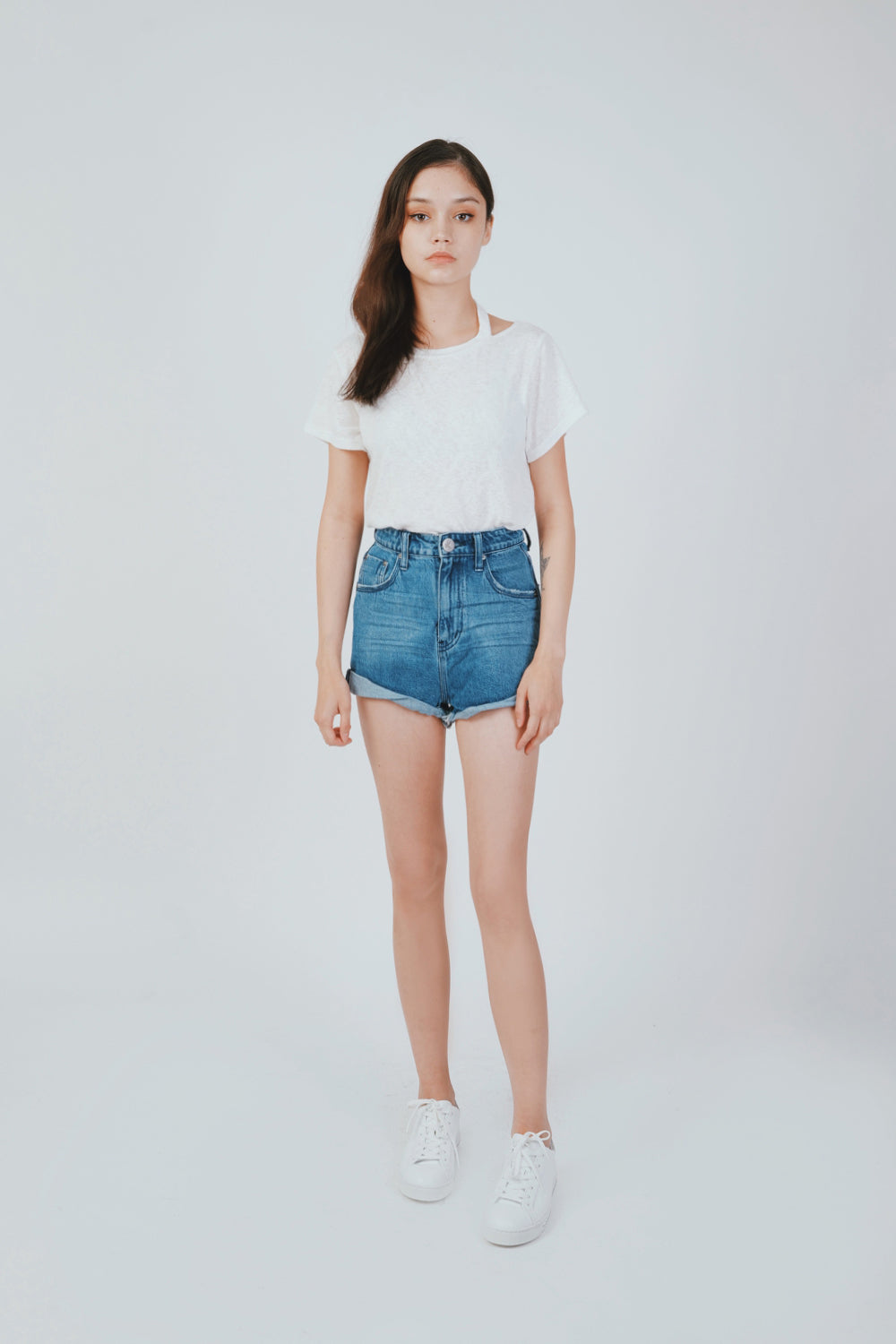 PACIFI BANDIT HIGH WAIST DENIM SHORT