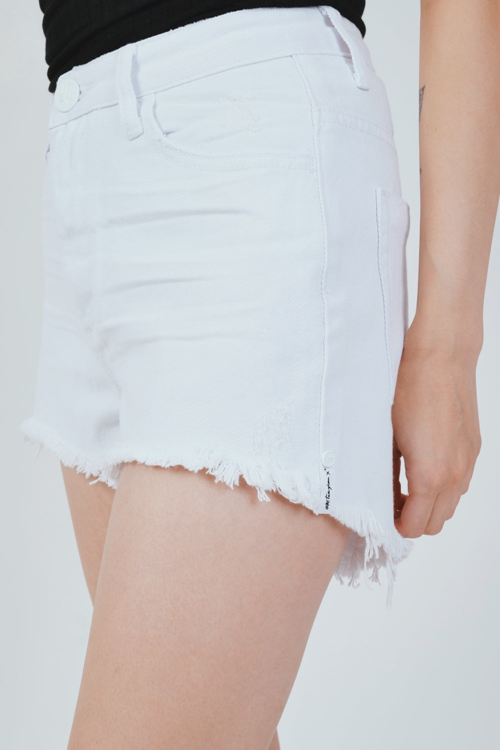 WHITE BONITA HW DENIM SHORT