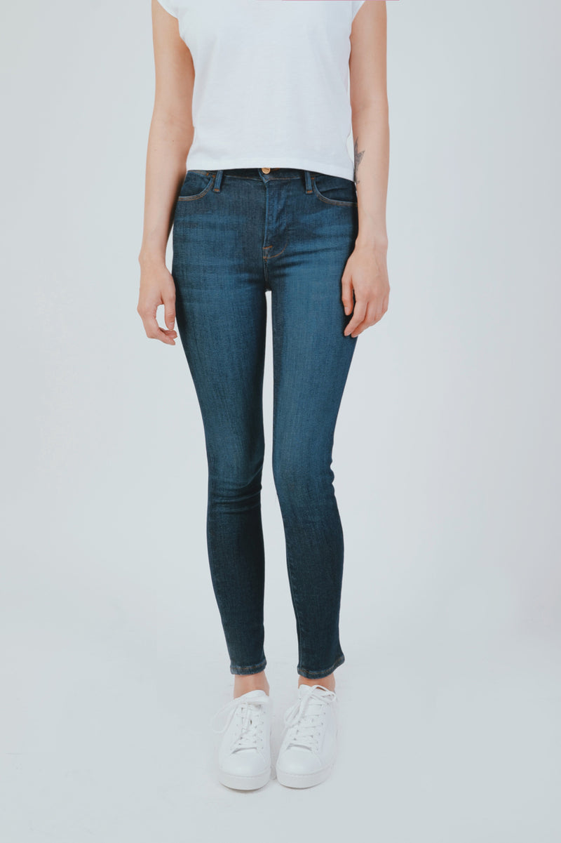 "BLUE ""LE HIGH SKINNY CROP"" JEANS"