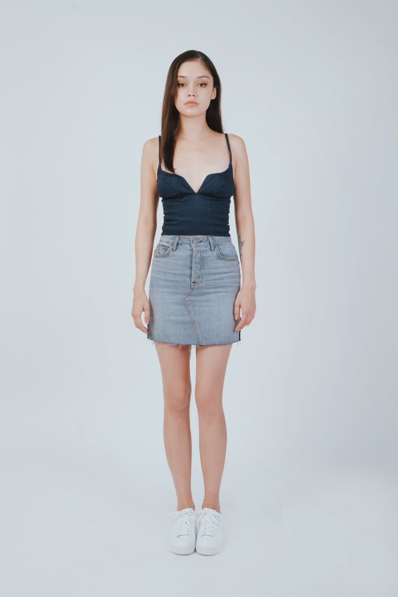 DARIA DENIM CORSET TOP