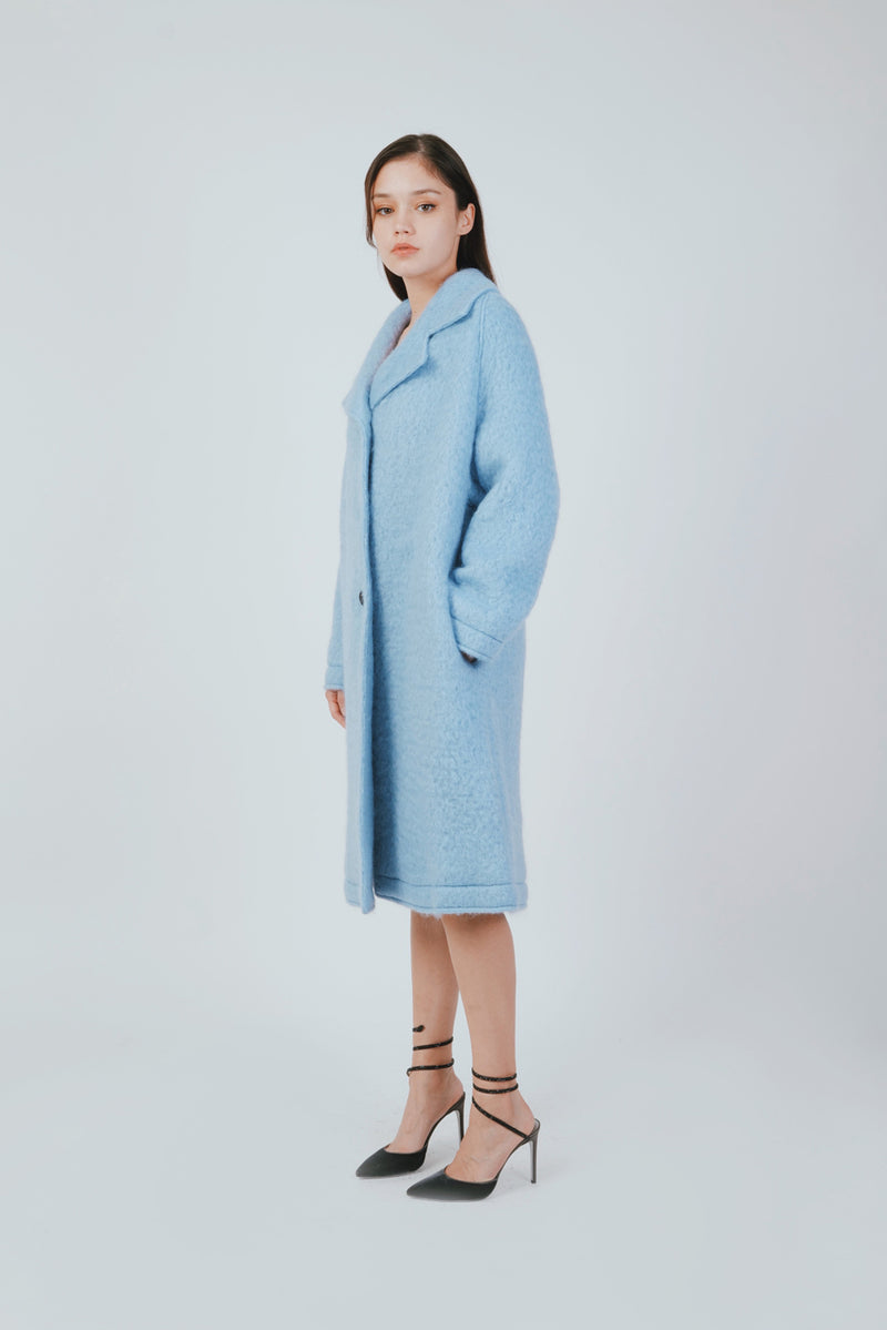 POWDER BLUE VOLUME COAT