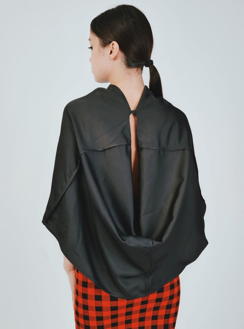 SATIN DRAPE TOP SP19-051T