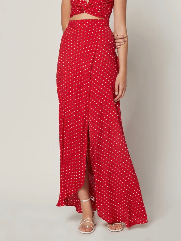 CHERRY DOTS WRAP IT UP SKIRT