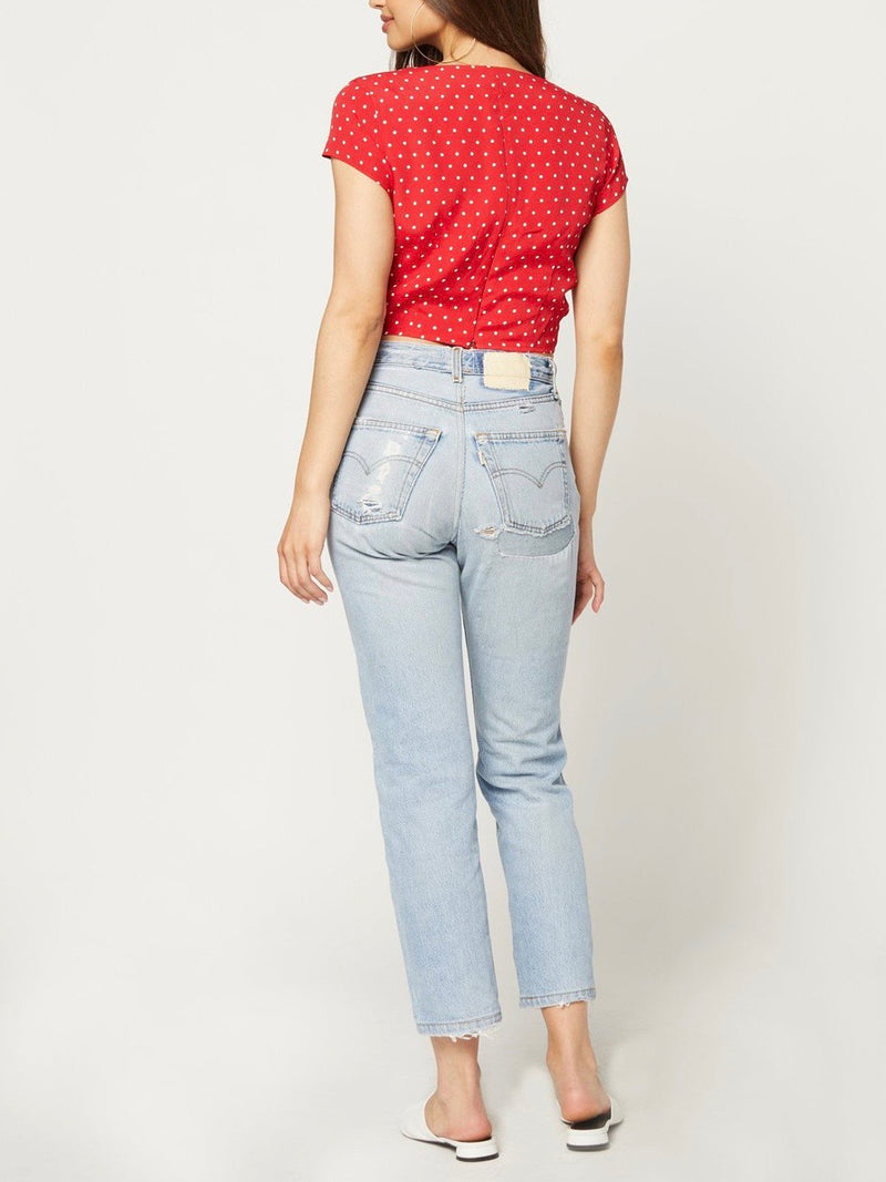 CHERRY DOTS MAIDEN TOP