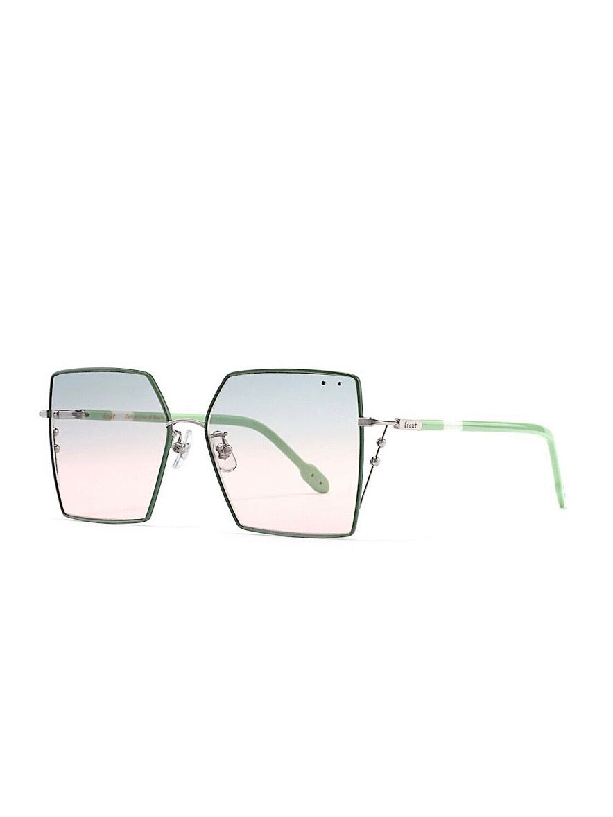 GREEN/PINK Oxygen SUNGLASSES