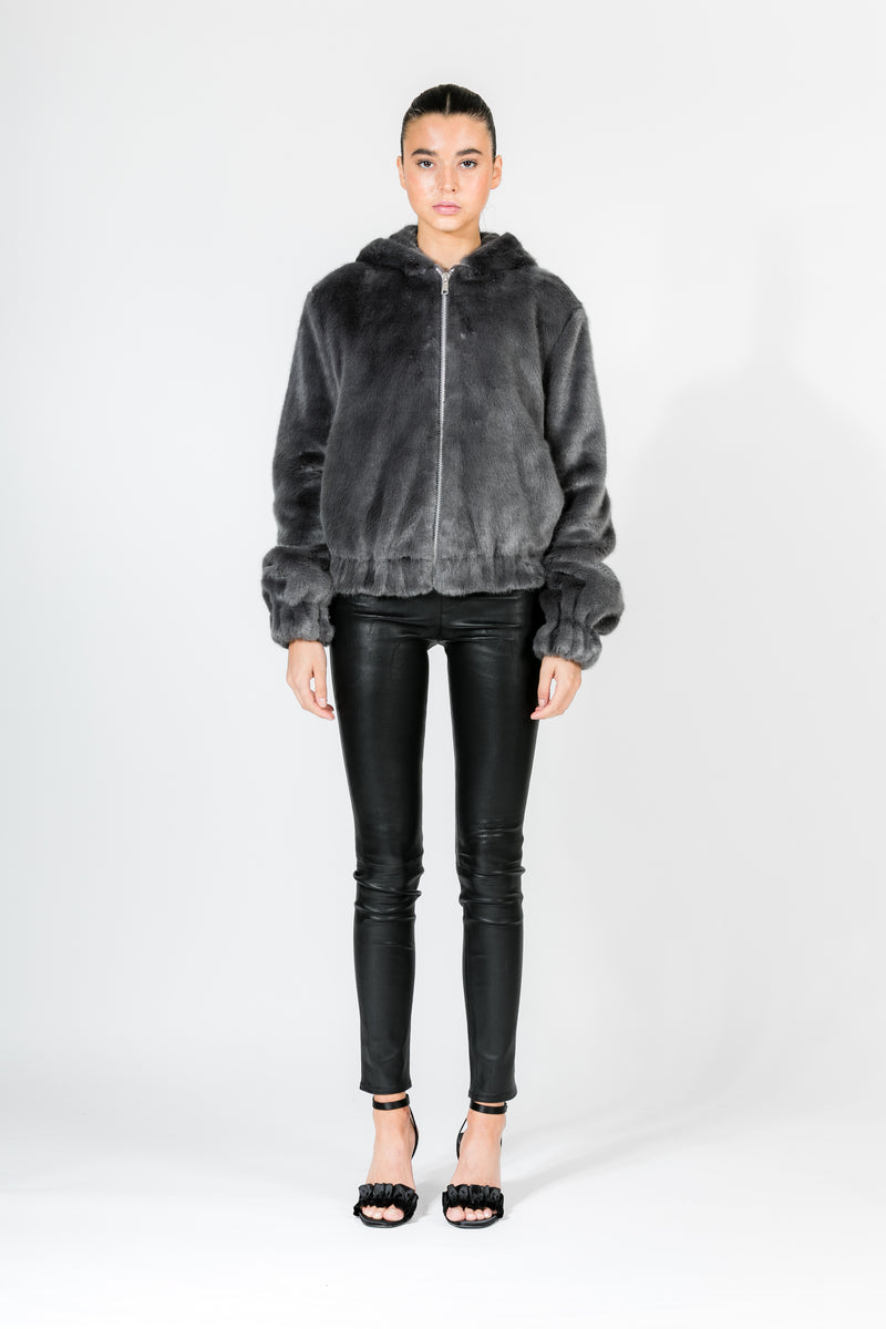SEAL HOODED MINK BOMBER