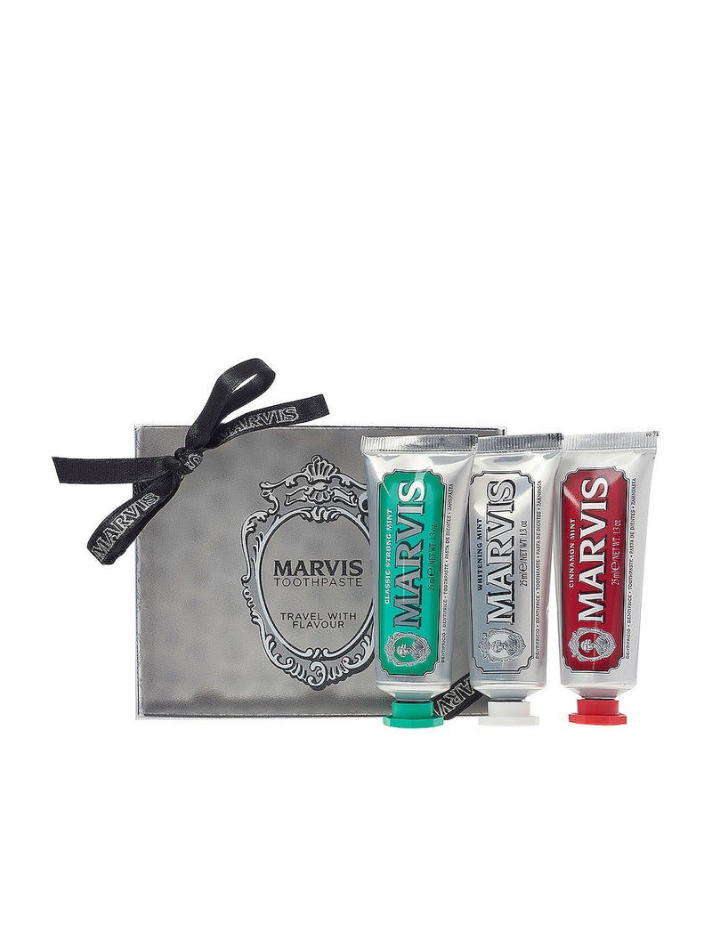 MARVIS Travel Flavour Toothpaste Trio 3 X 25ML
