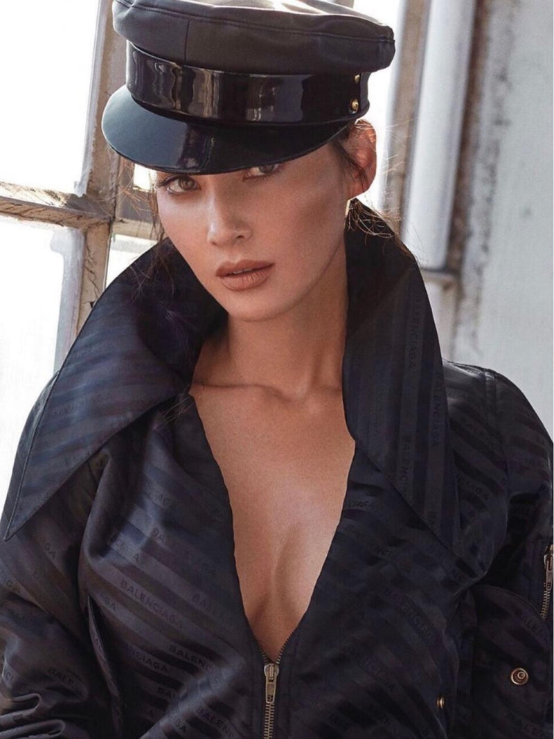 BLACK OFFICER HAT