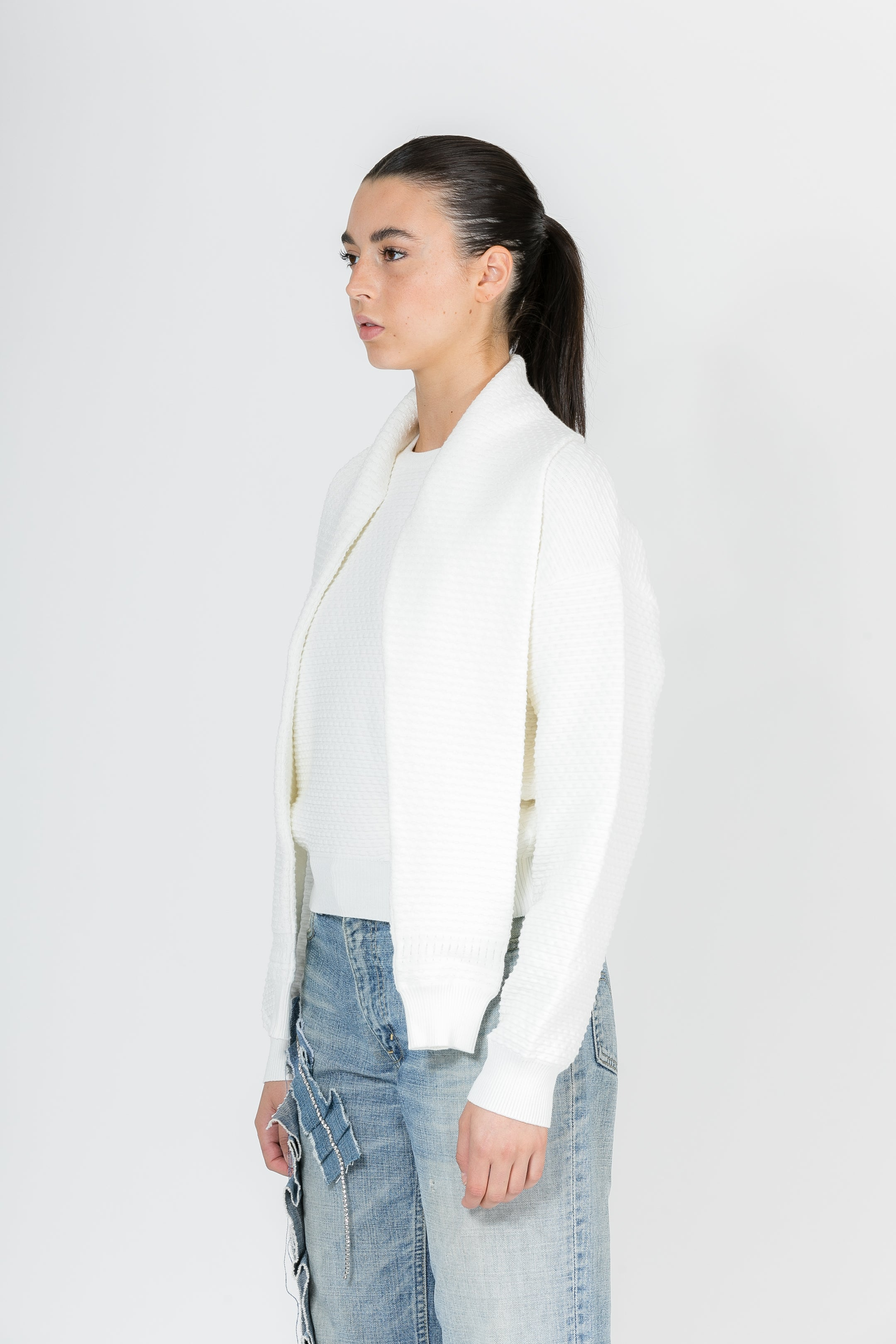 OVERSIZED TEXTURED LONGSLEEVE KNIT