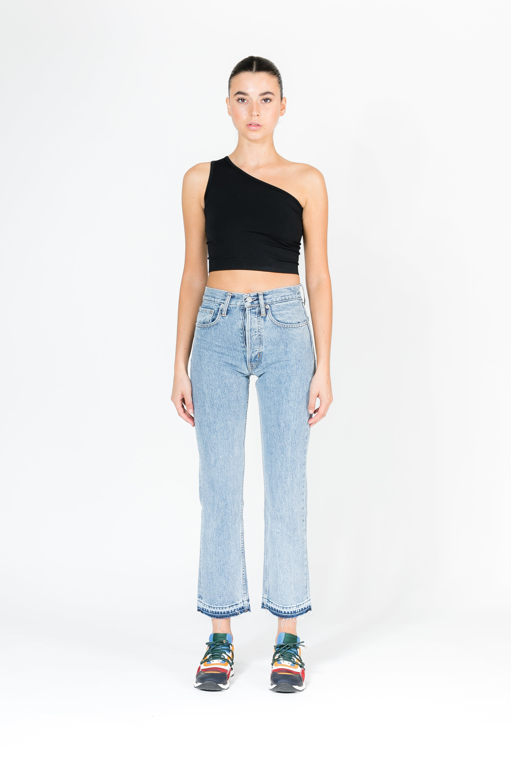 NEW AUTHENTIC CROP STRAIGHT JEAN