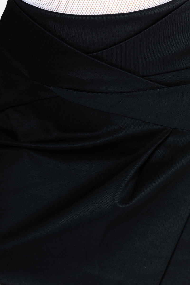 BLACK KNOT DRAPE SKIRT