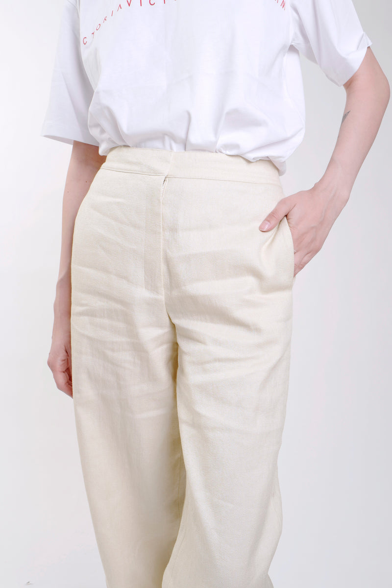 LUXU LINEN CLEAN TROUSER