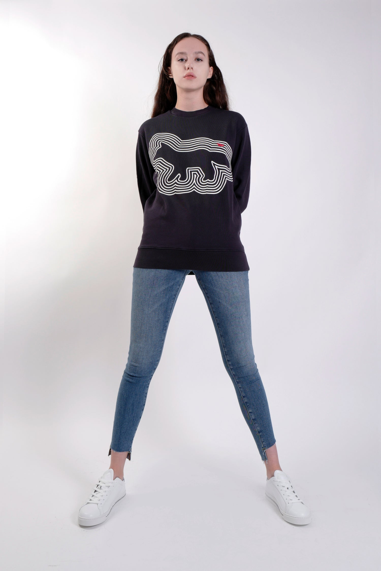 NAVY RED-FOX SWEATSHIRT