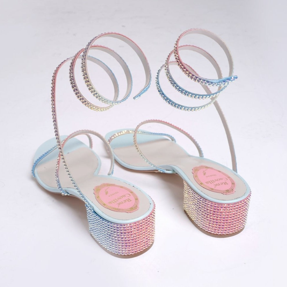 SUNSET FABRIC/TRANSMISSION STRASS SANDAL