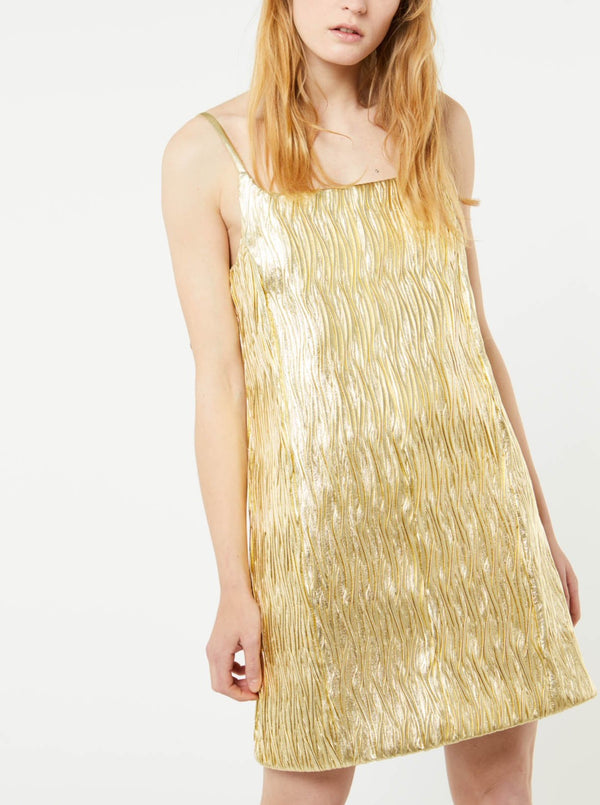 GOLD WAVES NAPA DRESS
