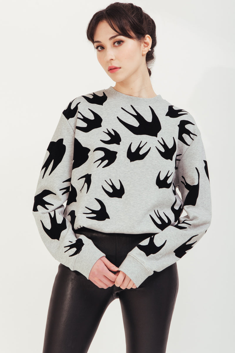 GREY SIGNATURE SWALLOW SWEATSHIRT