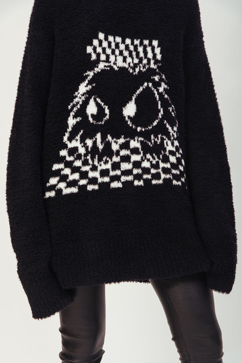 BLACK MONSTER CREWNECK SWEATER