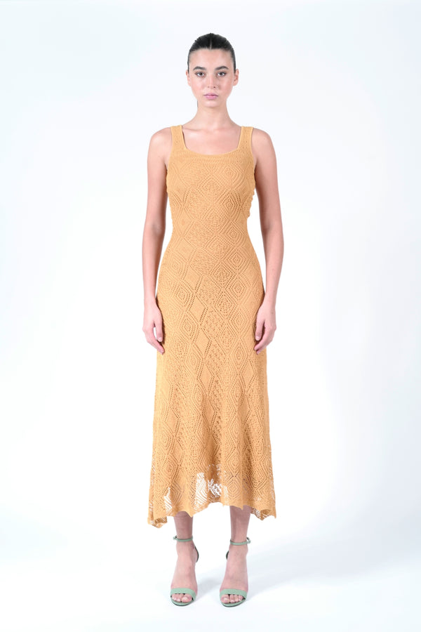 GOLD ALONIA DRESS