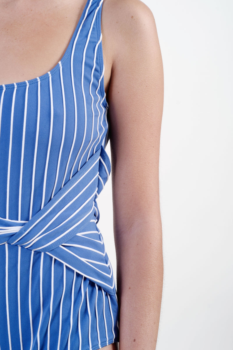 STRIPED TANK TWIST ONE PIECE