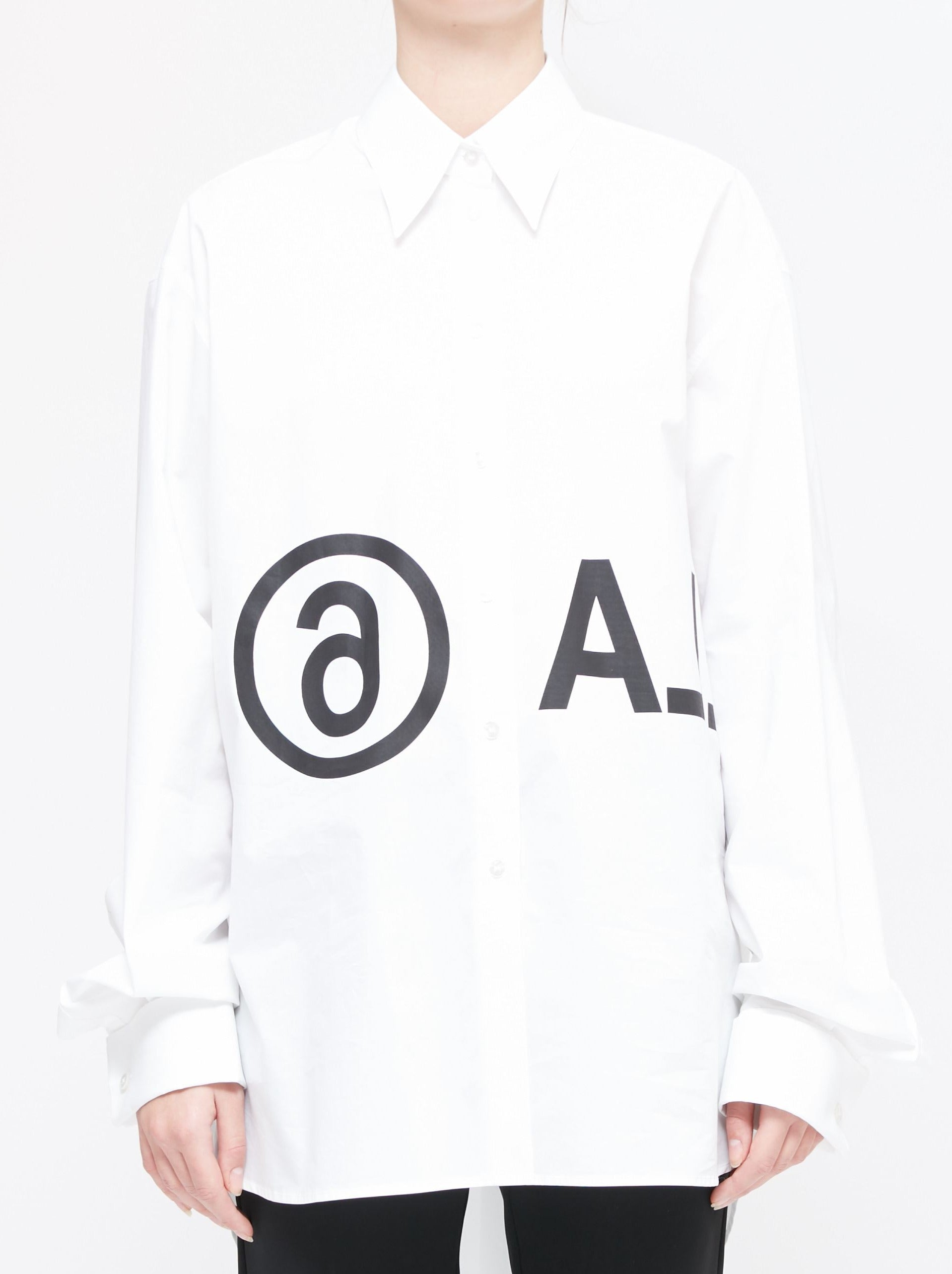 WHITE REVERSED LOGO SHIRT