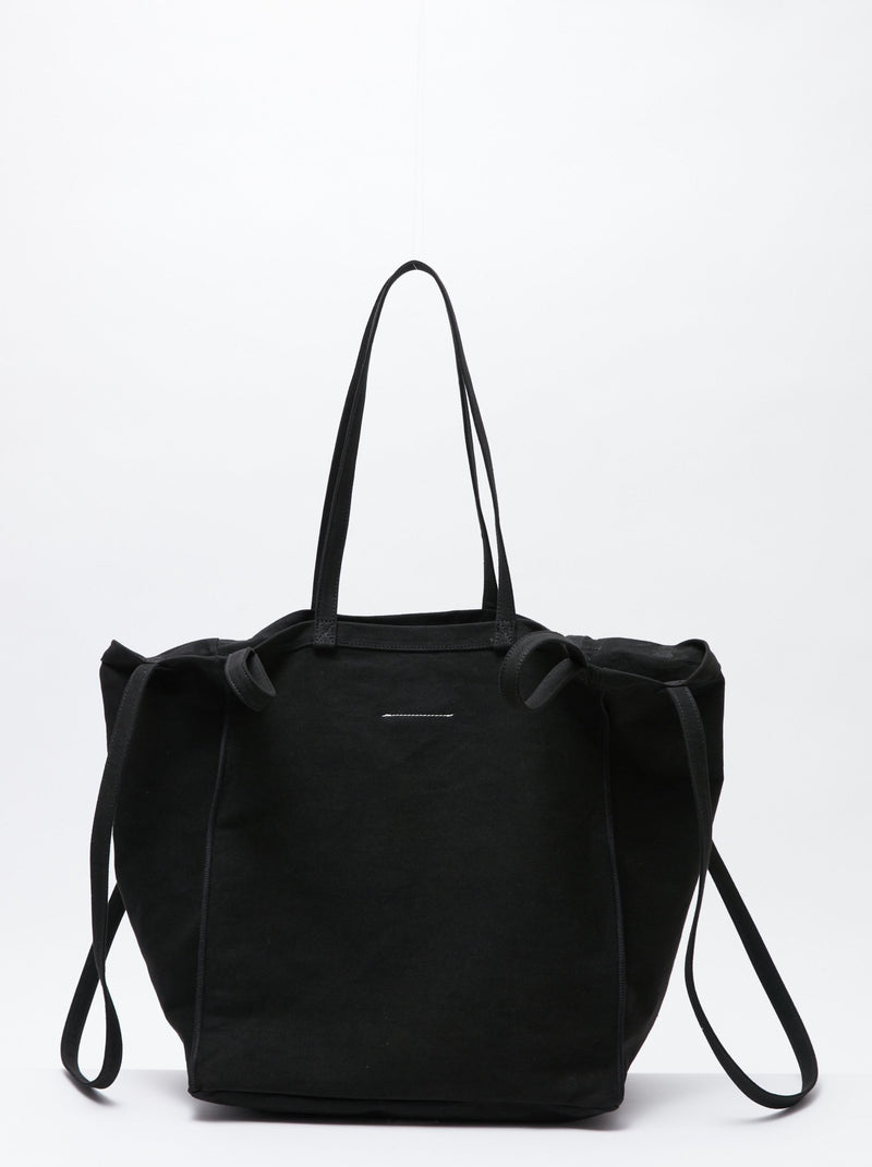 BLACK DOUBLE HANDLE TOTE BAG