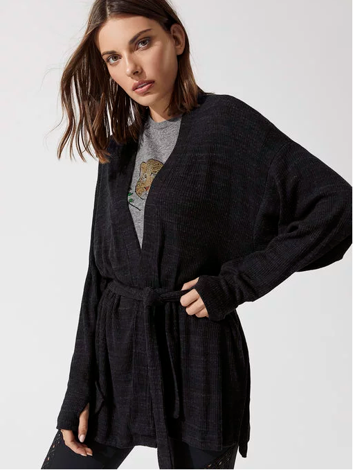 MIDNIGHTZ SLUB SWEATER CARDIGAN