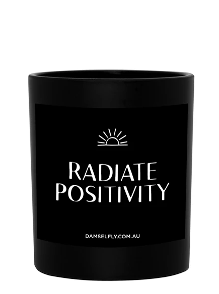 "LRG CANDLE ""RADIATE POSITIVITY"""