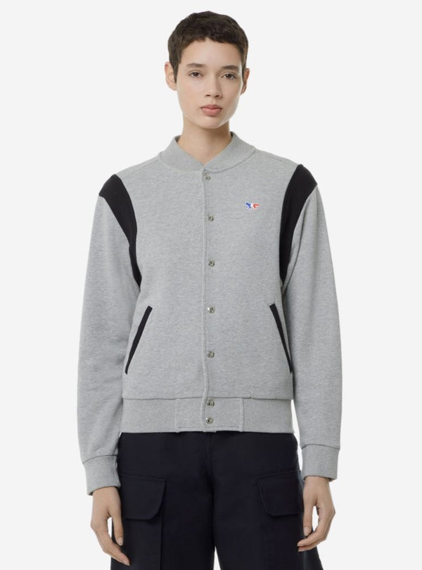 GREY MELANGE  TEDDY PATCH FOX JACKET