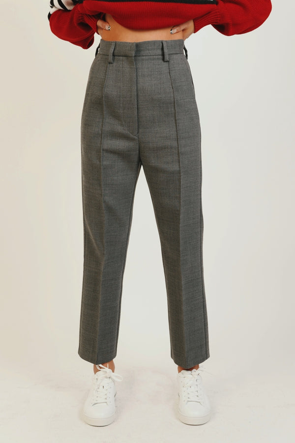 GREY TAILORED TROUSERS